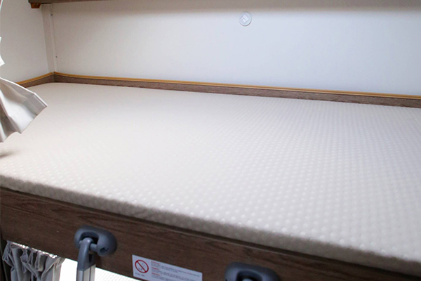 Blick auf eins der Betten